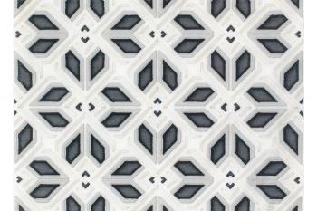 Avery Petite Pattern Charcoal on Carrara