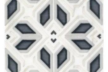 Avery Grand Pattern Charcoal on Carrara