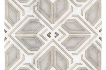Avery Grand Pattern Latte on Carrara