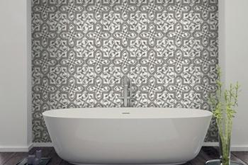 Florence (Grigio) on Carrara Bathroom