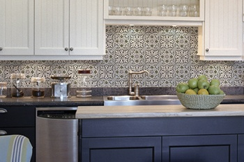 Holland (Blue-Grey) on Carrara Kitchen